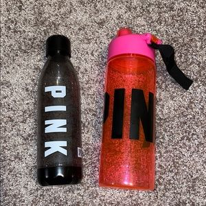 2 VS PINK WATER BOTTLES
